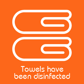 towels have been disinfected παροχή
